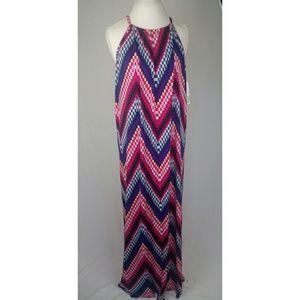 🌸Trina Turk Milian Halter Knit Maxi Dress Size XL